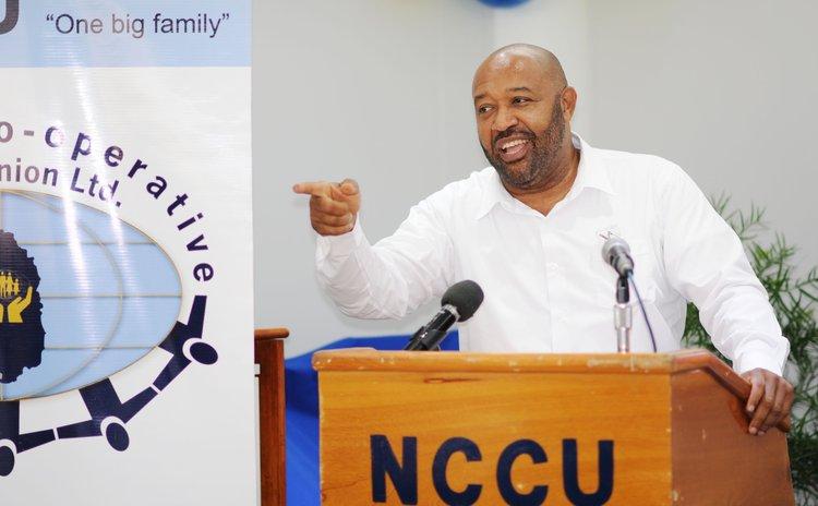 NCCU President Dexter Ducreay as he announces new NCCU initiative