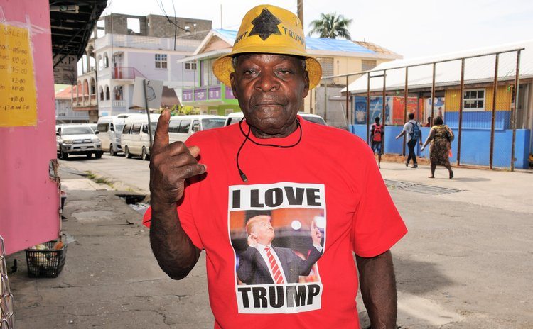 "Pappy Baptiste with ""I love Trump"" T-shirt"