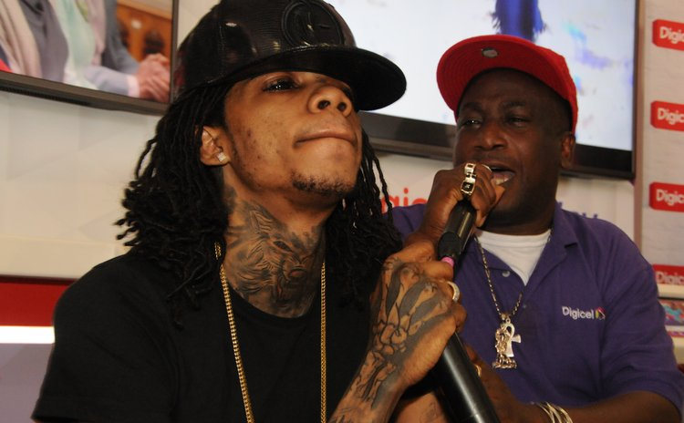 Alkaline and Wadix Charles at DIGICEL meet and greet