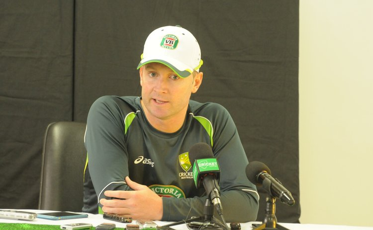 Australian captain Michael Clarke at press conference after the match
