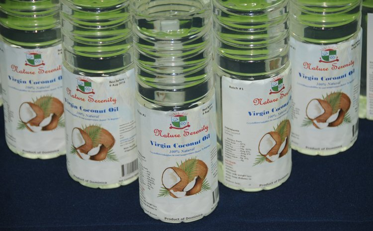 Bottles of Virgin Coconut oil