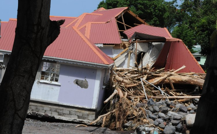 House at Checkhall damaged by raging river