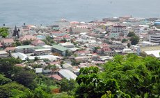 City of Roseau from Morne Bruce