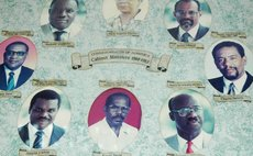 Alleyne Carbon,bottom left, as a member of the DFP cabinet