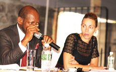 Dr Denzil Douglas, former St Kitts PM speaks at the DAIC luncheon at the Fort Young Hotel last week