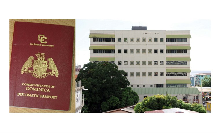 Government Headquarters,right, and Diplomatic Passport