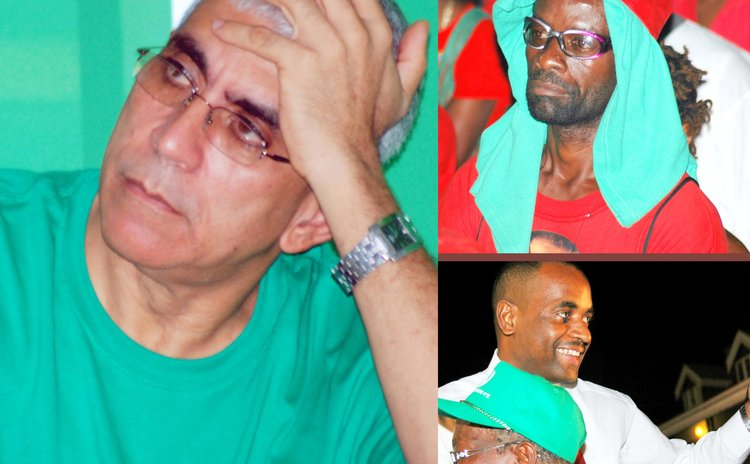 Freedom Party Interim Political Leader and PM Skerrit with Freedom /Labour supporters
