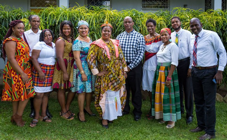 Staff members of UWI Open Campus Dominica