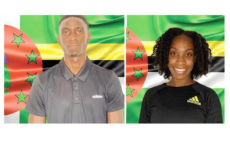 Dominica 2020 Olympians:Thea Lafond, right, and Dennrick Luke