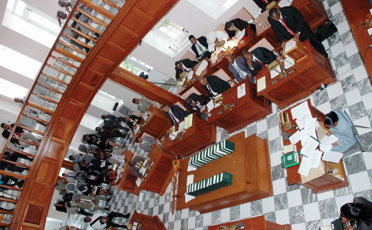 Dominica's parliament at an earlier session