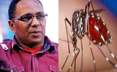 Dr Kenneth Darroux and mosquito