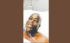 Dr Sam Christian recovers at a Martinique hospital