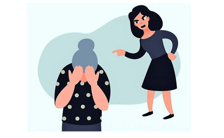 Graphic of elder abuse