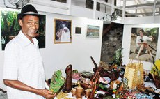 "Cyrille""Elf"" Henderson displays his art and craft at the exhibition"