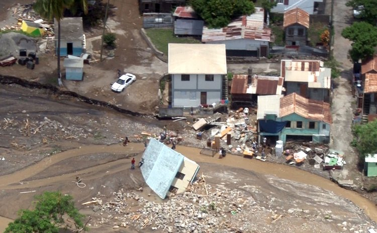 Erika damage on Dominica west coast