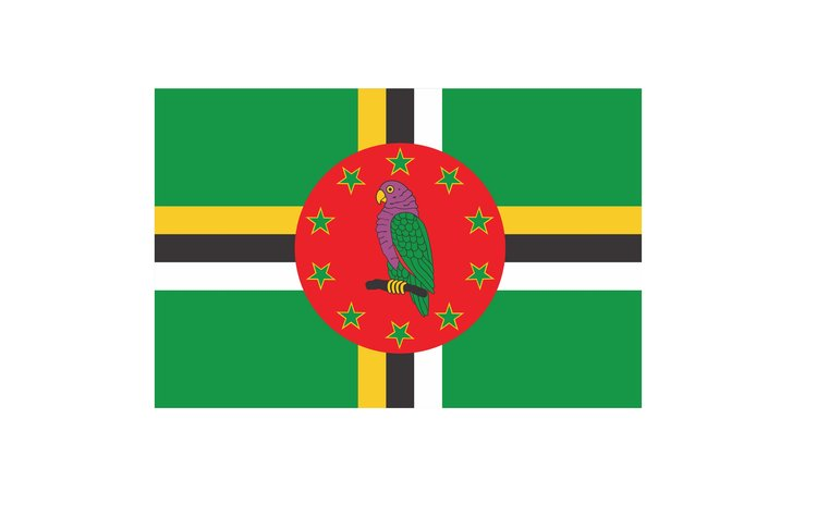 Official flag of the Commonwealth of Dominica