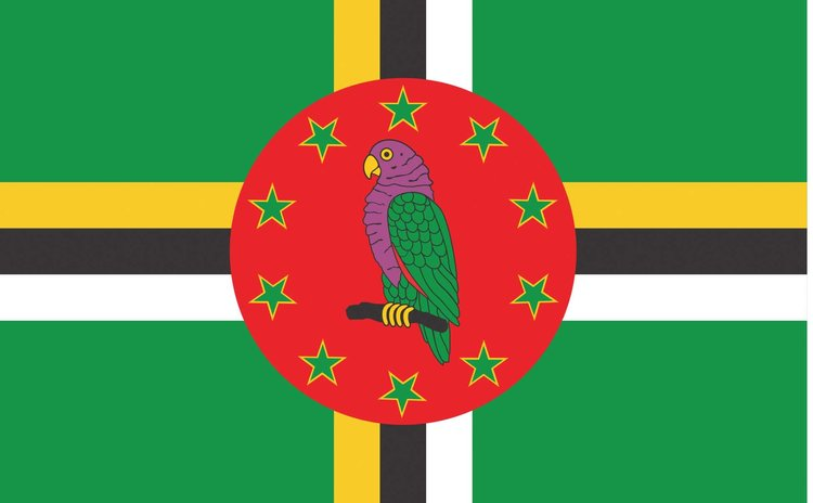 Commonwealth of Dominica national flag