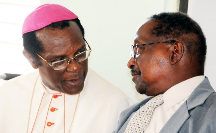 Archbishop Kelvin Felix and Former President Dr N.J.O Liverpool