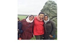 Alanna, Chrissie and Sari Finn at Stonehenge