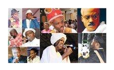 Calypso Final Ten: Large photos: (left to right): King Karessah, De Bobb; Dice; Tasha P: Small photos, top left Haxey; Jaydee; Centre- Sye; Scrunter: Bottom left- Chris B; Stephan