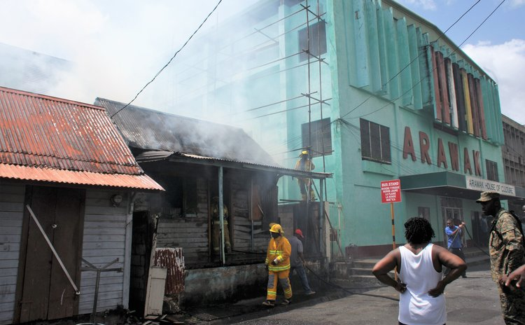 Fire on Kennedy Avenue near Arawak House of Culture