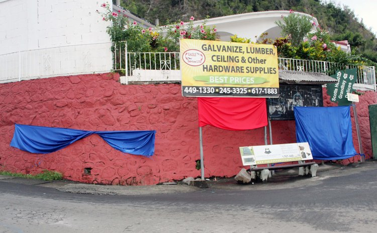 Campaign flags at Loubierre