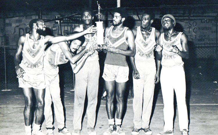 FLAMES won Division I League, Knockout and Play-Off Championships in the 1980s