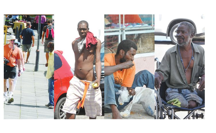Four of dozens of vagrants in Roseau