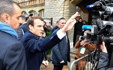 French president elect waves to supporters