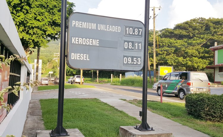 List of petroleum prices near Canefield gas station