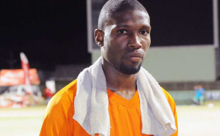 Captain and goal keeper Glenson Prince