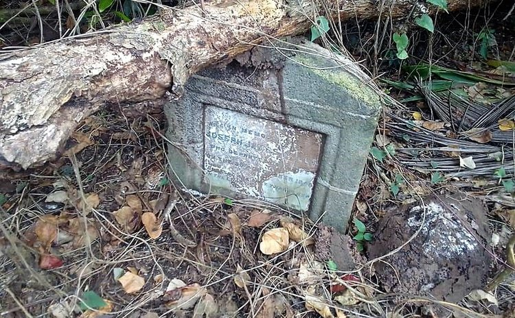 One of the graves found at the Wesley Site of the Proposed International Airport