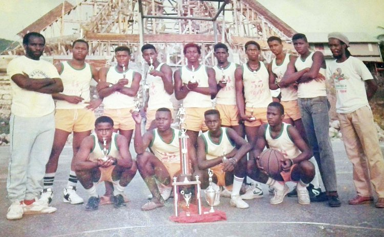 HOYAS III, DABA 1988 Division III League champions, was Pottersville's first basketball championship team. Photo Courtesy Marcellus Lee