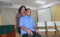 Top local CXC student Hananel Valarie and his mom