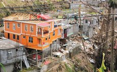 Roof of  house at Kings Hill damaged by Hurricane Maria