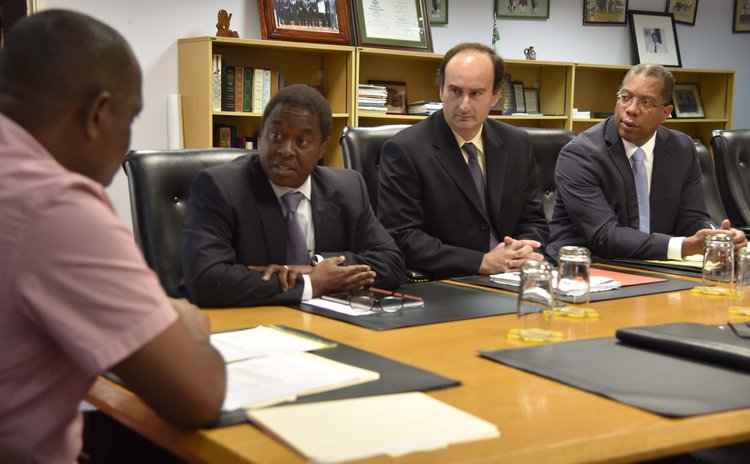 Prime Minister Skerrit meets IMF officials after TS Erika