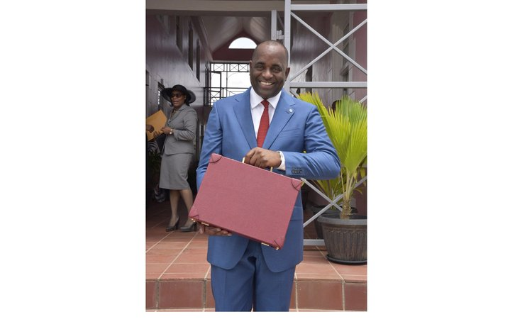 Prime Minister Skerrit goes to parliaament to present 2016/2017 budget (Photo Govt. of Dominica)