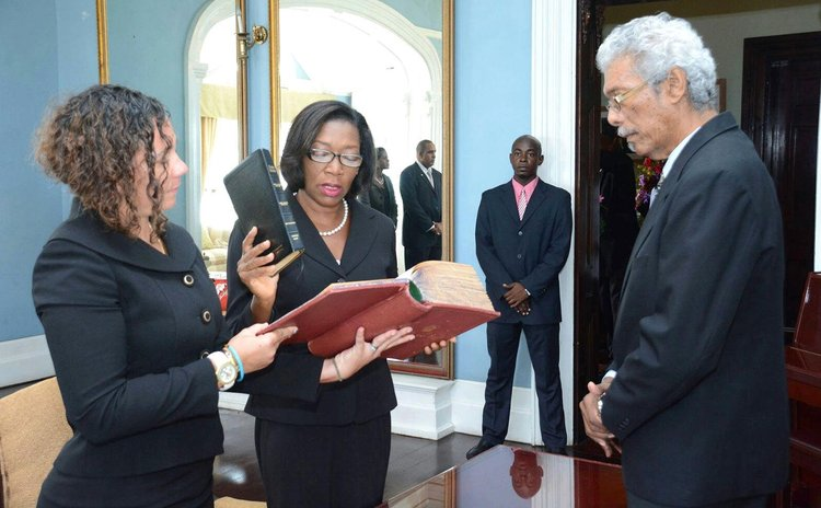 Justice Charles-Clarke takes oath of office