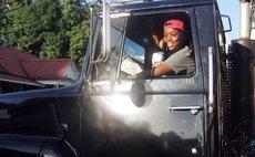 Tianna Walsh drive a massive truck