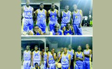 THUNDERERZ teams in 2017 national basketball league. Upper Photo: Premier Division team. Lower Photo: Division I team.