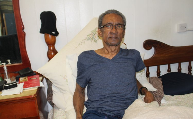 FormerDirector ofPublicProsecutions Gene Pestaina in at his home in Roseau last week