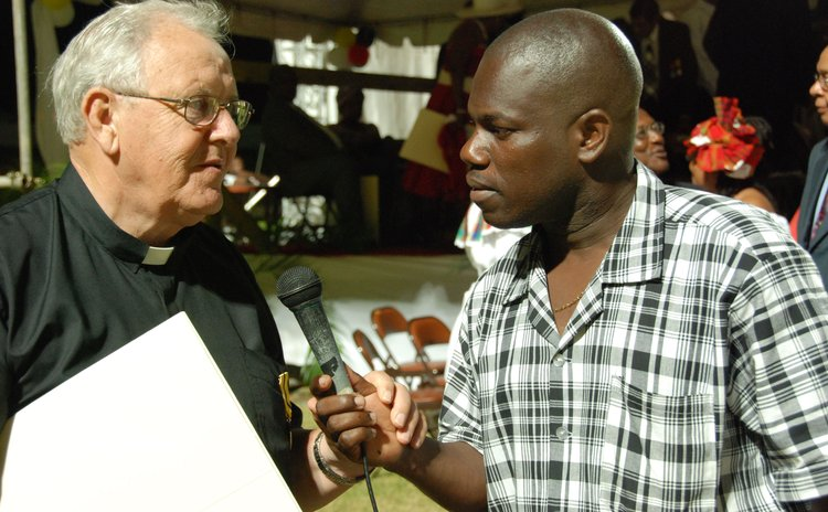 Fr Charles Vermeulen  speaks with journalist Curtis Matthew in 2007