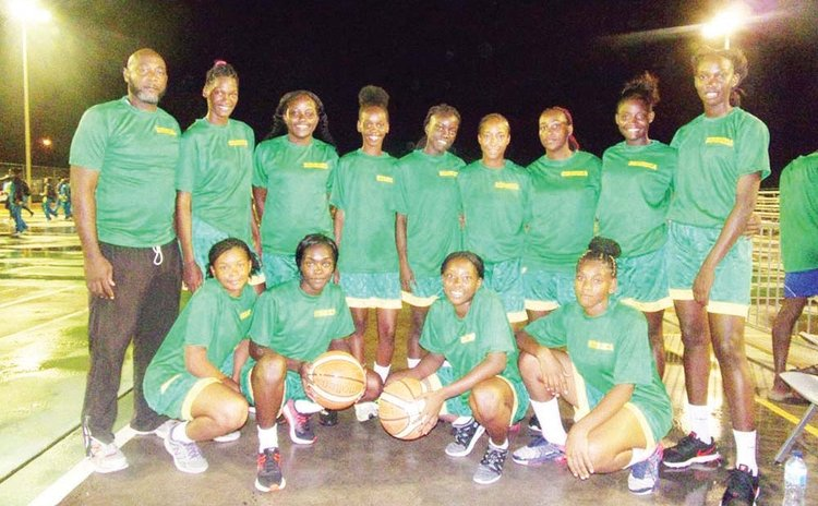 Victorious DOMINICA GIRLS Basketball Team at 2018 Windward Islands Schools Games. See story for complete caption
