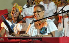 Jean Lawrence -Mathurin performs at a concert held in her honour in October 2019