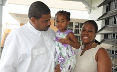 Jelani James, father who cares intensely , and his family