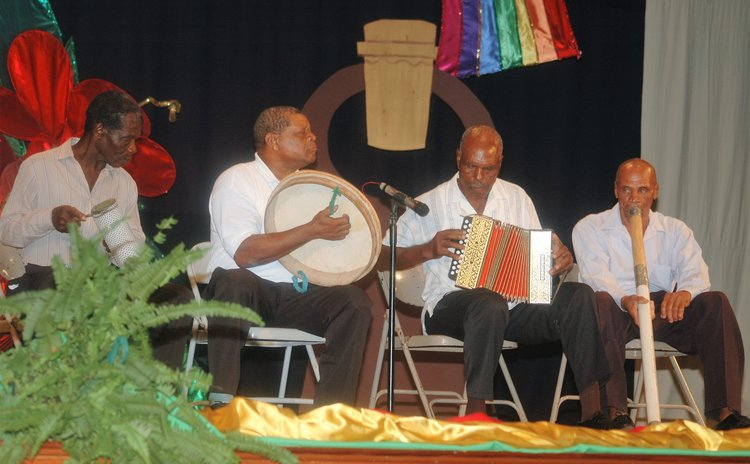 Jing Ping band plays at a Golden Drum Award ceremony