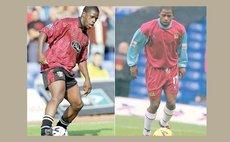Len Johnrose in football uniform (BBC photo)