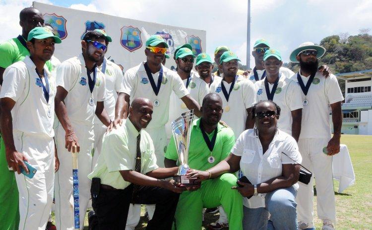Judge Bernie Stephenson poses with the Guyana team