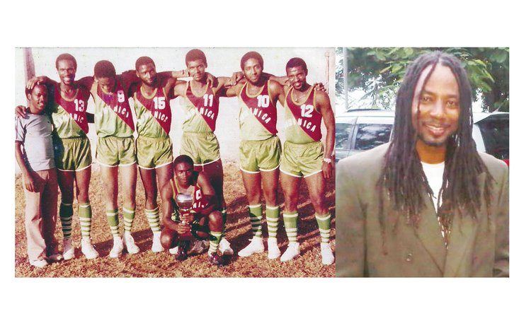Right: Adrien Dechausay: Orthopaedic Surgeon, Irving McIntyre (#10) and other members of Dominica's Basketball Team, 1984. See full caption at end of article