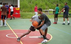 Junior basketballers in an organised training programme. Photo Courtesy: DABA Facebook Page
